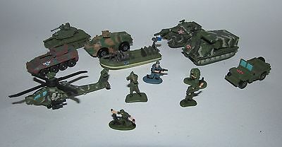 Micro Machines Military Models Including Tanks Helicopter Soldiers Etc