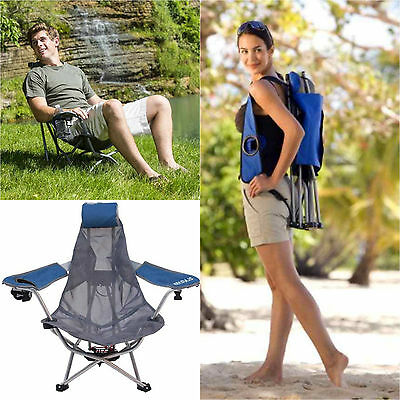 Portable Backpack Chair Mesh With Armrest, Breatheble Adjustable Lightweight