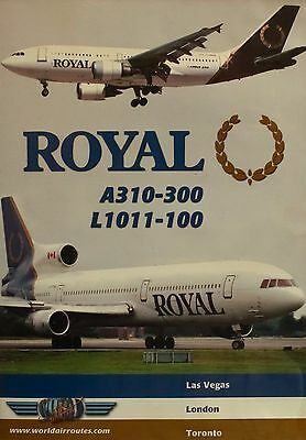 Just Planes Royal A310-300 and L1011-100 World Air Routes Cockpit DVD