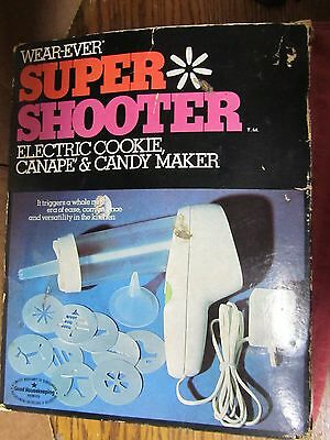 Vintage Wear Ever Super Shooter Electric Cookie Press Canape Candy Maker 70001