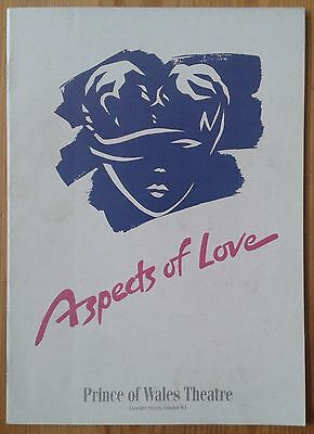 Aspects of Love programme Prince of Wales Theatre Feb 1992 ed. Sarah Brightman
