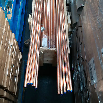 """Refrigeration Copper Tube, Half Hard Pipe 19g, 6m length, 3/4"""" and 1 1/8"""" OD"""