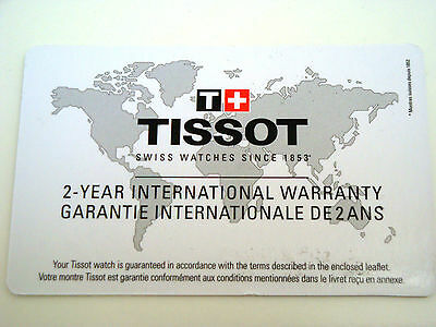 Tissot International Warranty Card