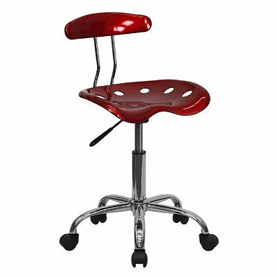 Tractor Seat Stool Adjustable Rolling Work Chair Office Furniture Computer Red