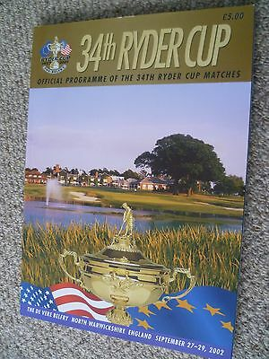 34th Ryder Cup Official Programme 2002 + Guides/Handbook