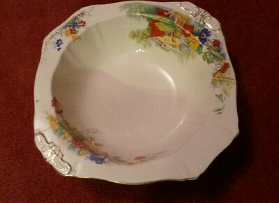 Alfred Meakin Harmony Shape Bowl Rimmed. Approx 9 x 9.5 inches. USA  Patent