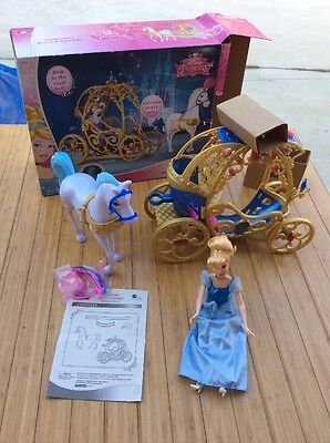 Disney Princess Cinderella Horse and Carriage New Open Box Plus Bonus Doll