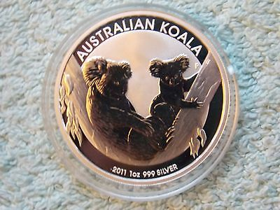 2011 AUSTRALIAN SILVER KOALA 1 oz BU from Roll