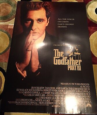 The Godfather Part III (Part 3) Original US One Sheet Film Poster Double Sided