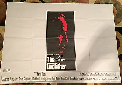 The Godfather UK Quad Film Poster