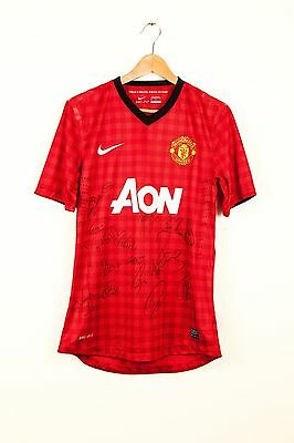 Manchester United Shirt Signed By Robin Van Persie & Team 2012-13 Season