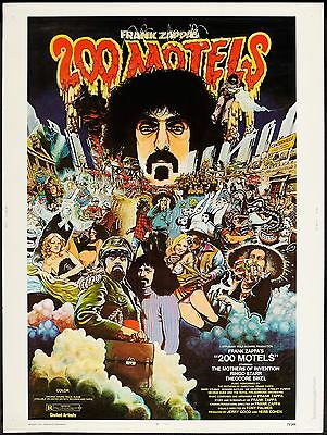"Frank Zappa 200 Motels 30"" x 40"" US One Sheet Film Poster 1971"