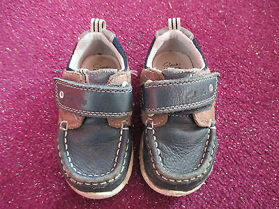 Boys Clarks First Shoes ☆ Infant Size Uk 5.5G