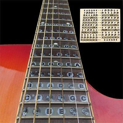 Guitar Fretboard Stickers Note Learn Markers Fret Neck Decals Labels