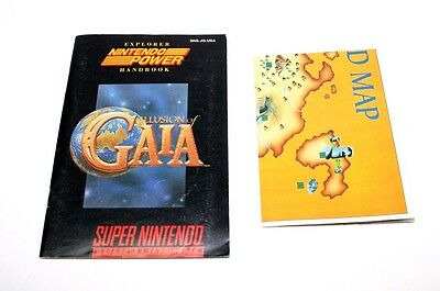 Illusion of Gaia Manual & Map Super Nintendo SNES *VG Condition* Fast Shipping