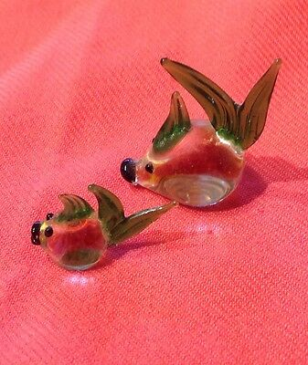 Tiny Fish Duo In Beautiful Coloured Glass