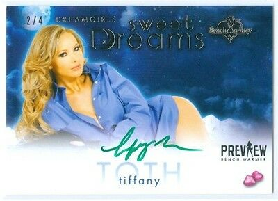 """Tiffany Toth """"sweet Dreams Autograph #2/4"""" Benchwarmer Dreamgirls Preview 2016"""