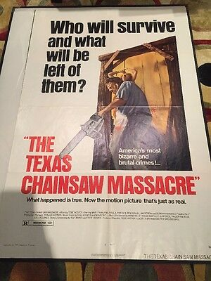 The Texas Chainsaw Massacre Original US One Sheet Film Poster Bryanston