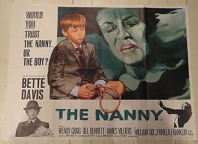 'The Nanny' (1965) Original British Hammer Quad Film Poster Chantrell Artwork