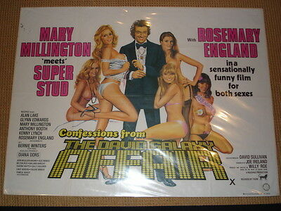 Confessions from The David Galaxy Affair British Quad Film Poster Chantrell