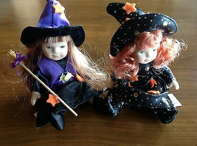 Ganz jointed cute mini witch dolls