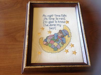 Beautiful completed cross stitch framed work