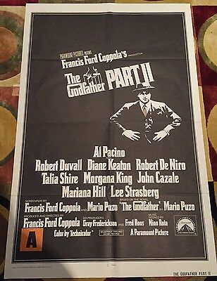 The Godfather Part II (Part 2) Original US One Sheet Film Poster