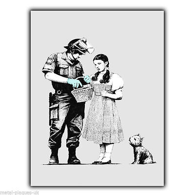 METAL SIGN WALL PLAQUE BANKSY STOP AND SEARCH DOROTHY poster art print picture