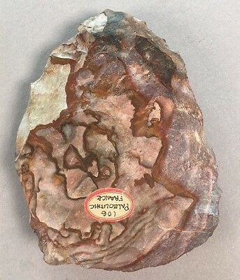 Ancient French Paleolithic Acheulean Hand Axe