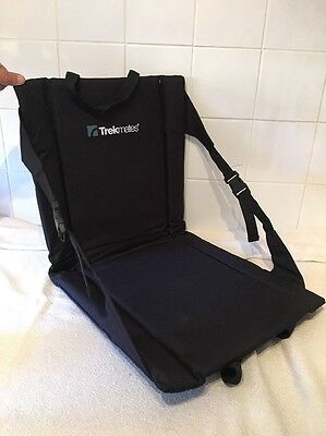 Trekmates Fold Up Black Camping Seat Portable With Carry Strap