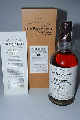 WHISKY THE BALVENIE 30 YEARS OLD IN BOX RARE SINGLE MALT 70cl.
