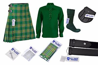 Men's Scottish 6 Piece Casual Kilt Outfit with Sporran, MacDonald Tartan Kilt