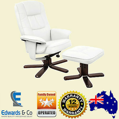Recliner Chair Lounge Armchair Ottoman Luxury Couch Padded Arm Chair Swivel Seat