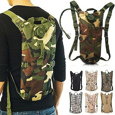 Water Bladder Bag Hydration Backpack Military Pack Hiking Camping Rucksack HT