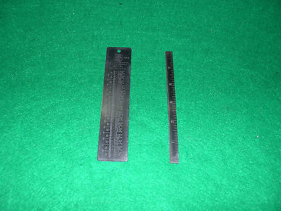 "Starrett 6"" Blade (SPLIT DOWN LENGTH) +  Starrett #589 Dicimal Equivalent Table"