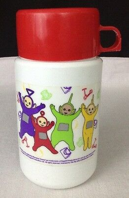 Vintage Teletubbies 1998 Red Lid Plastic 3 Piece THERMOS Replacement