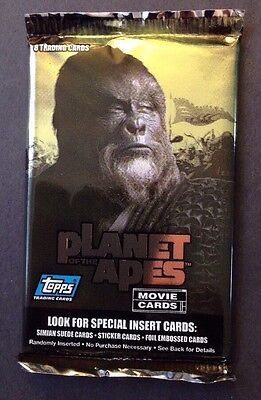 Planet Of The Apes Topps 2001 Movie Cards