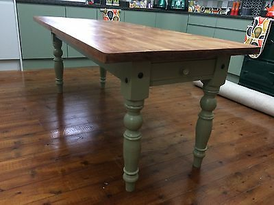 Solid Oak Dining Kitchen Table Large With 8 Chairs