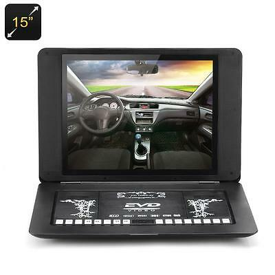 15 Inch Portable DVD Player - Copy Function, TFT LED