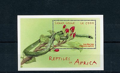 Sierra Leone 2001 MNH Reptiles of Africa 1v S/S Snakes Stamps