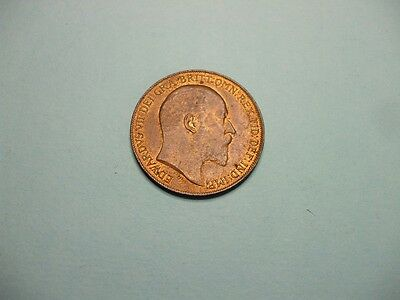 Edward Vii 1910 Penny With Lustre Very High Grade Coin.