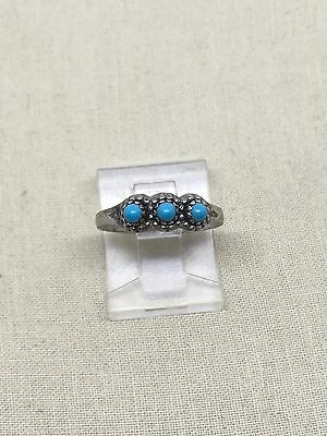 Size 4.5 Sterling Silver Turquoise Ring 43-24