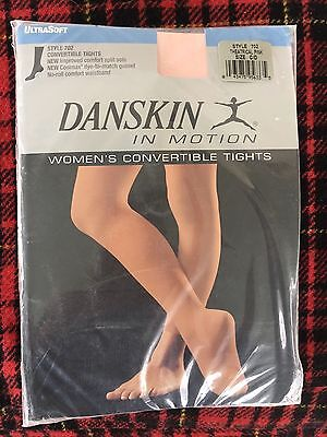 Danskin Womens Convertible Tights Theatrical Pink Size C/D New In Package