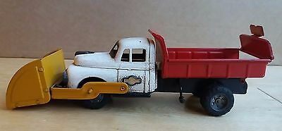 Vintage tinplate friction Sss Shioji Friction Dump Truck lorry? Japan toy