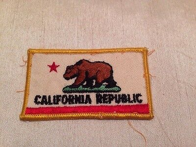 16L California State Flag Embroidered Patch