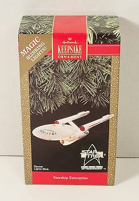 1991 Hallmark STAR TREK 25th Anniversary ENTERPRISE Ornament NEW NIB Never Used