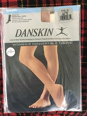 Danskin Womens Convertible Tights Light Toast Size C/D New In Package