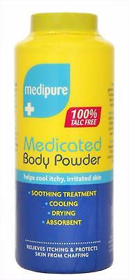 MEDIPURE MEDICATED BODY POWDER 100% TALC FREE 200g FREE FAST DELIVERY