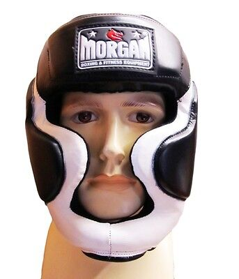 Morgan Headgear Full Face Professional Gel Enforced - Black/White