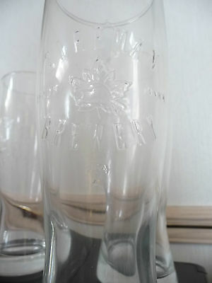 FOUR (4) Sleeman Clear Glasses